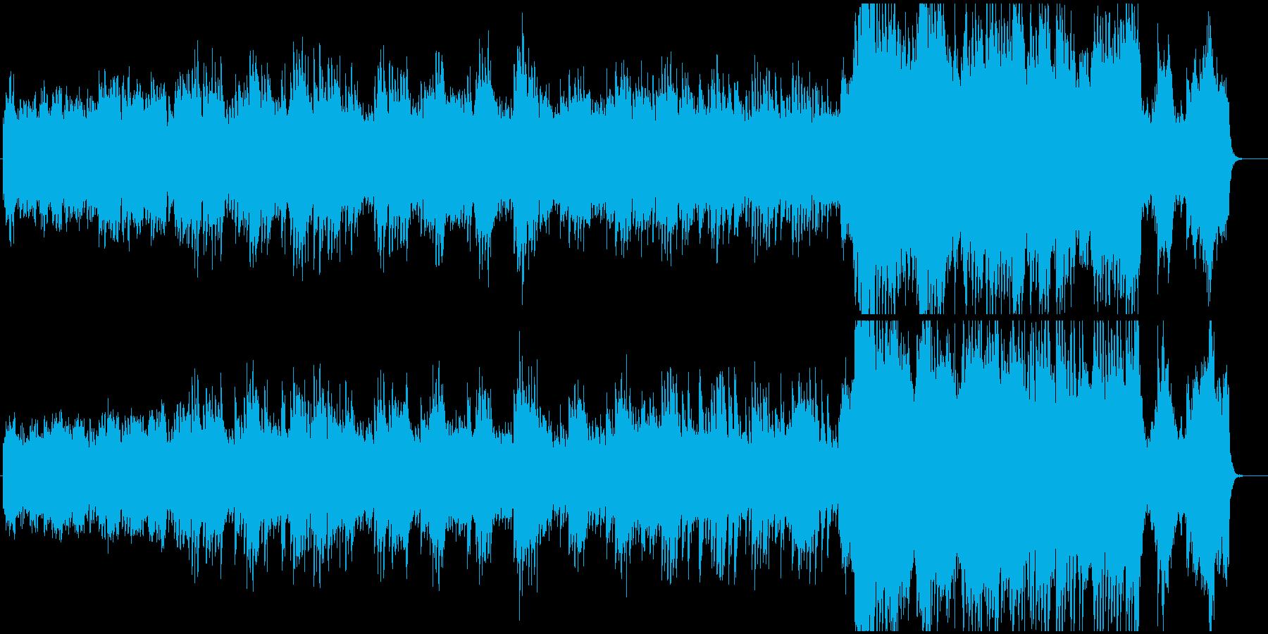 映画音楽のようなドラマチックなピアノ曲の再生済みの波形