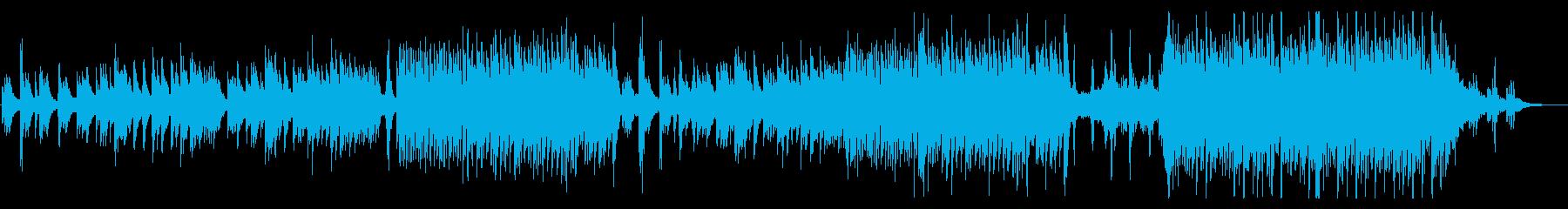 癒し系和風BGMの再生済みの波形