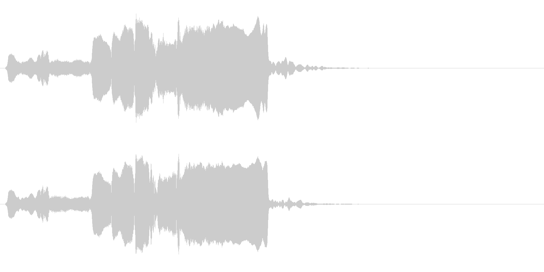 はじまり(遅め)◆篠笛生演奏の和風効果音の未再生の波形