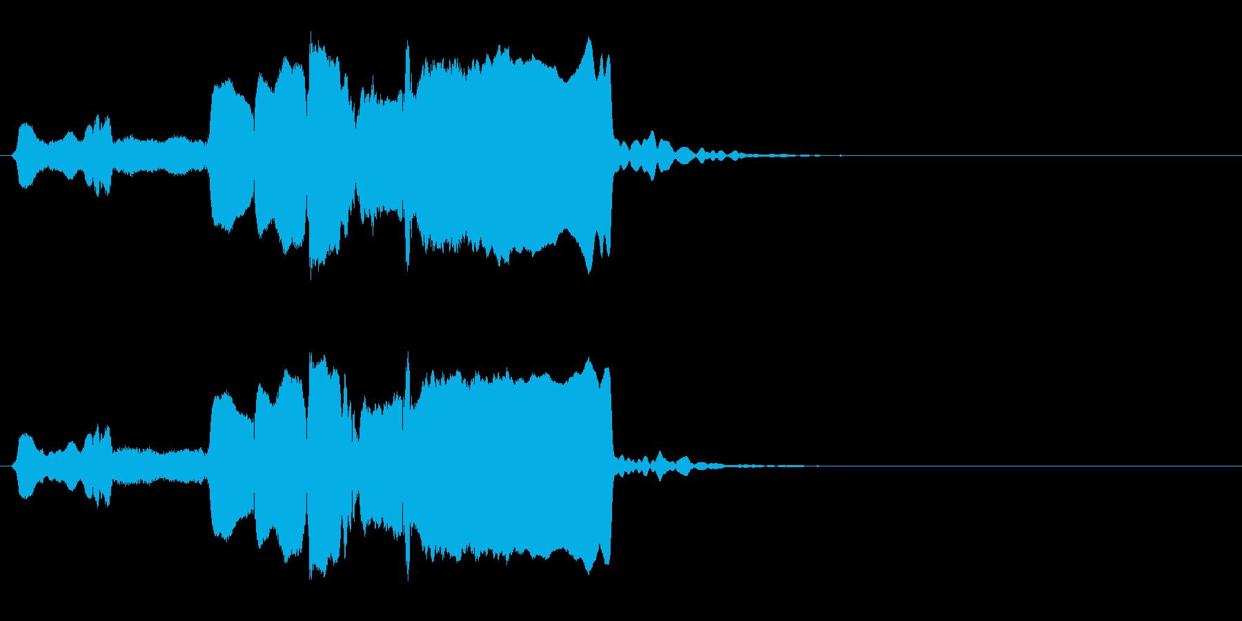 はじまり(遅め)◆篠笛生演奏の和風効果音の再生済みの波形