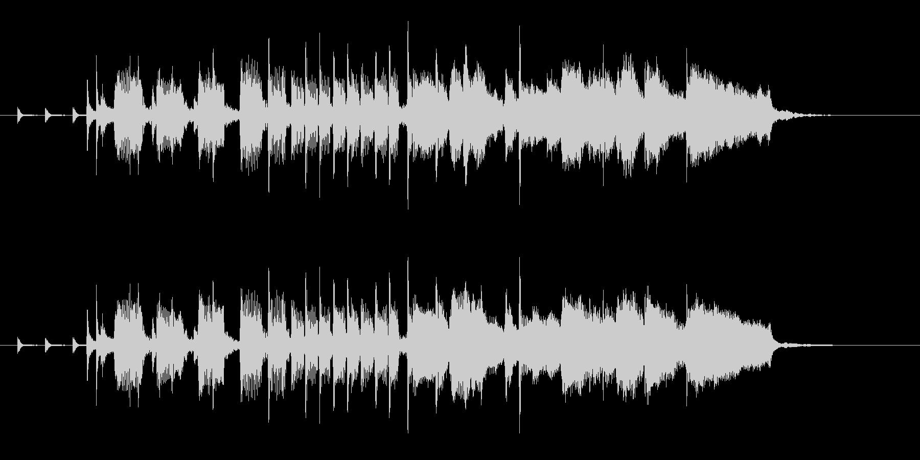 CMロゴプレゼン疾走感おもしろジャズリフの未再生の波形