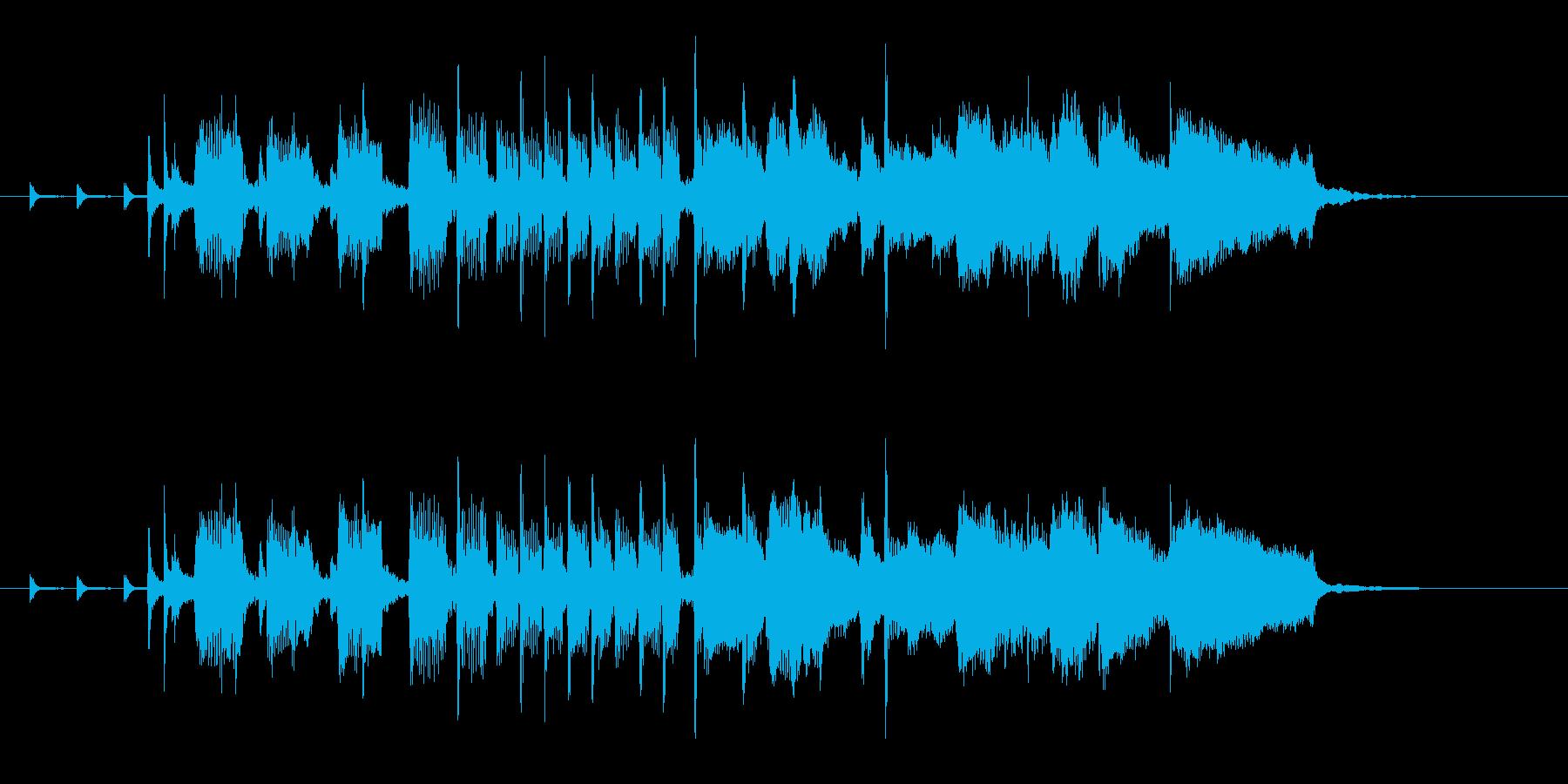 CMロゴプレゼン疾走感おもしろジャズリフの再生済みの波形