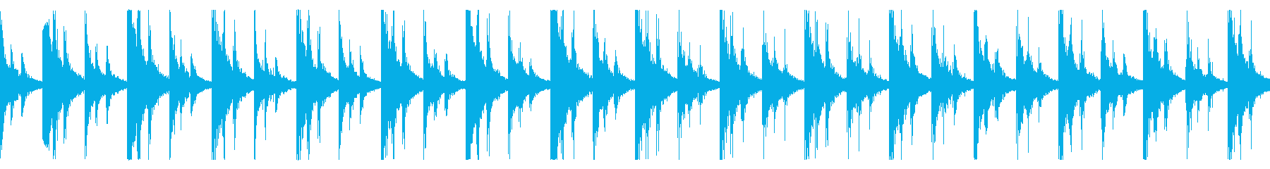 非現実的で不気味な時計の音 ループ の再生済みの波形