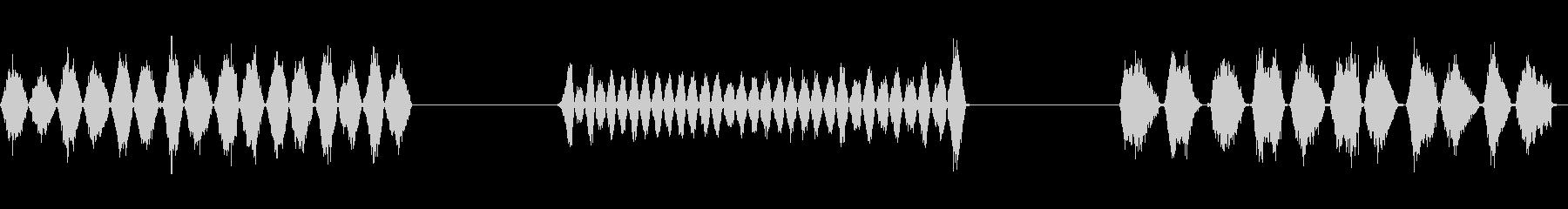 楽器弓のこx3の未再生の波形