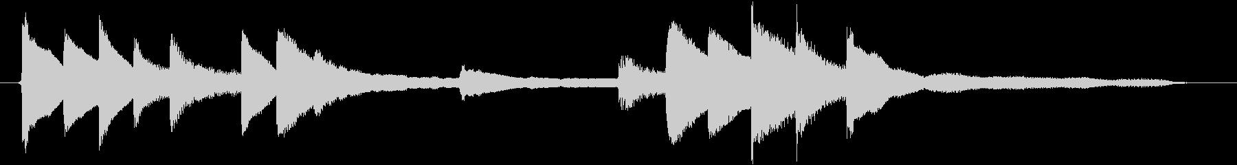 ピアノのジングル うるおいの未再生の波形