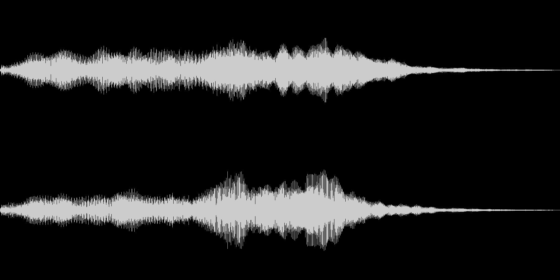柔らかいイメージのサウンドロゴの未再生の波形