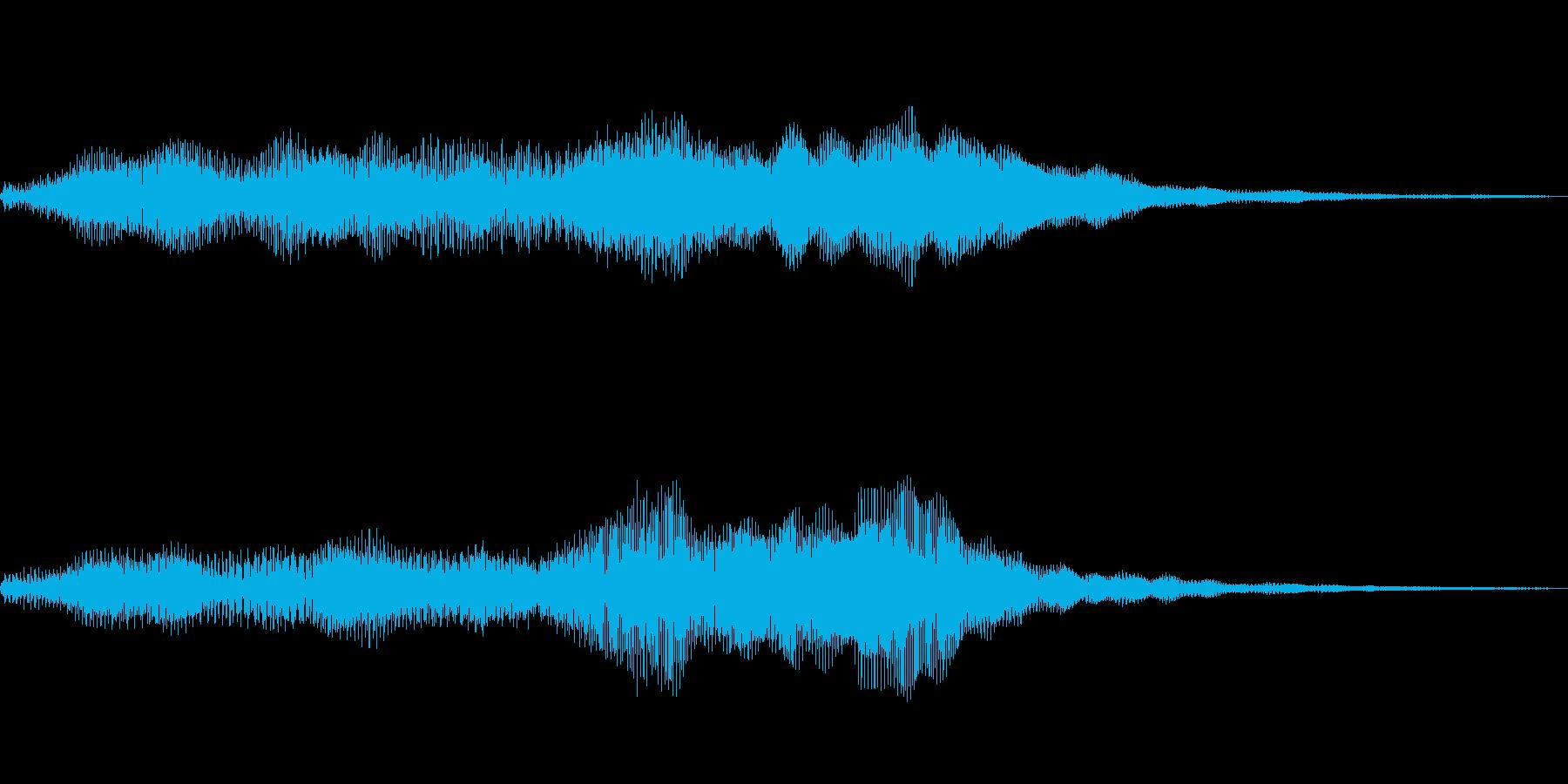 柔らかいイメージのサウンドロゴの再生済みの波形