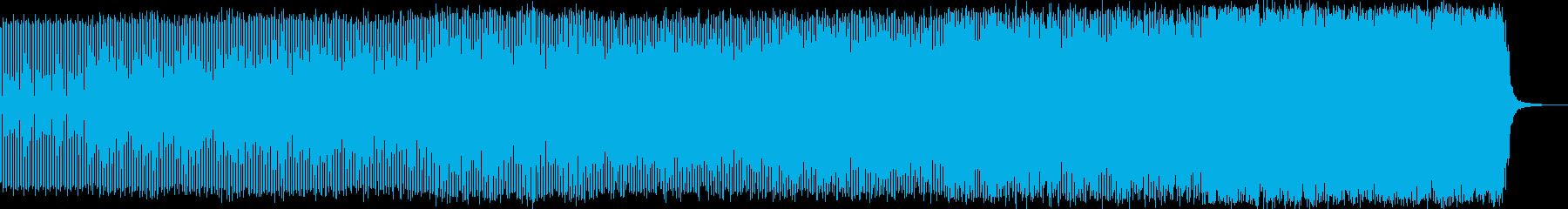 わくわくエレクトロニカハウスミュージックの再生済みの波形