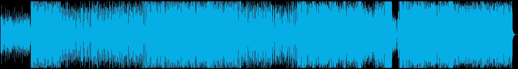 ポップで明るく楽しい雰囲気の曲の再生済みの波形