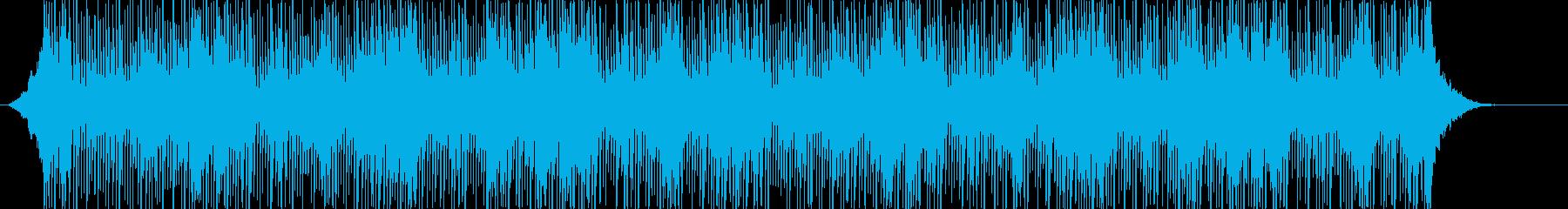 シリアスでダークなアンビエント系の曲の再生済みの波形