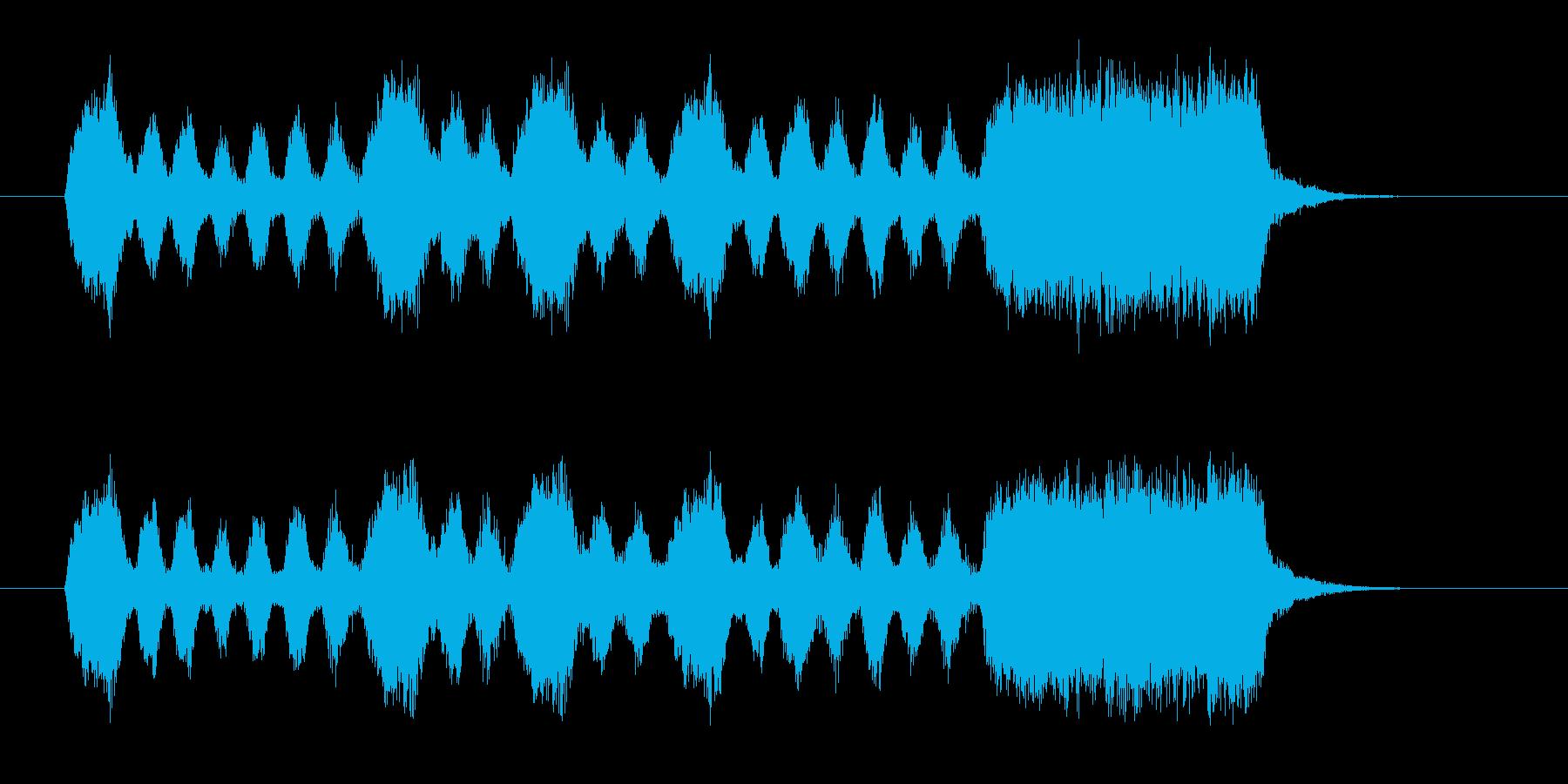 ロシア民謡っぽい着信音の再生済みの波形
