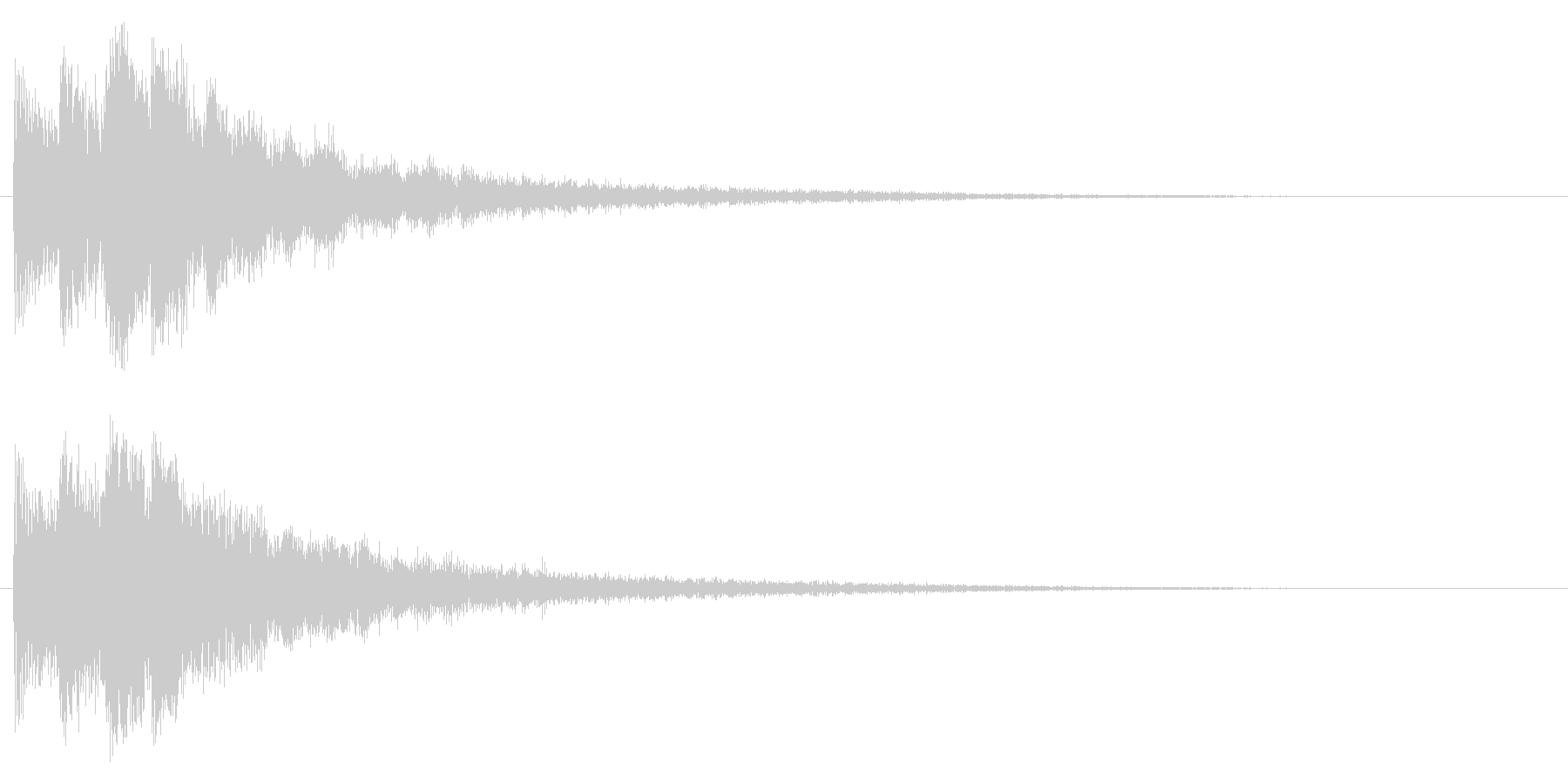 決定音/宇宙/シューティング系の未再生の波形