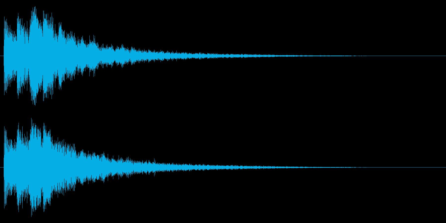 決定音/宇宙/シューティング系の再生済みの波形