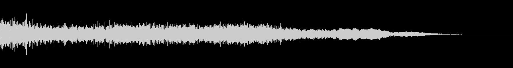 未来感のあるサウンドロゴ/オープニングの未再生の波形