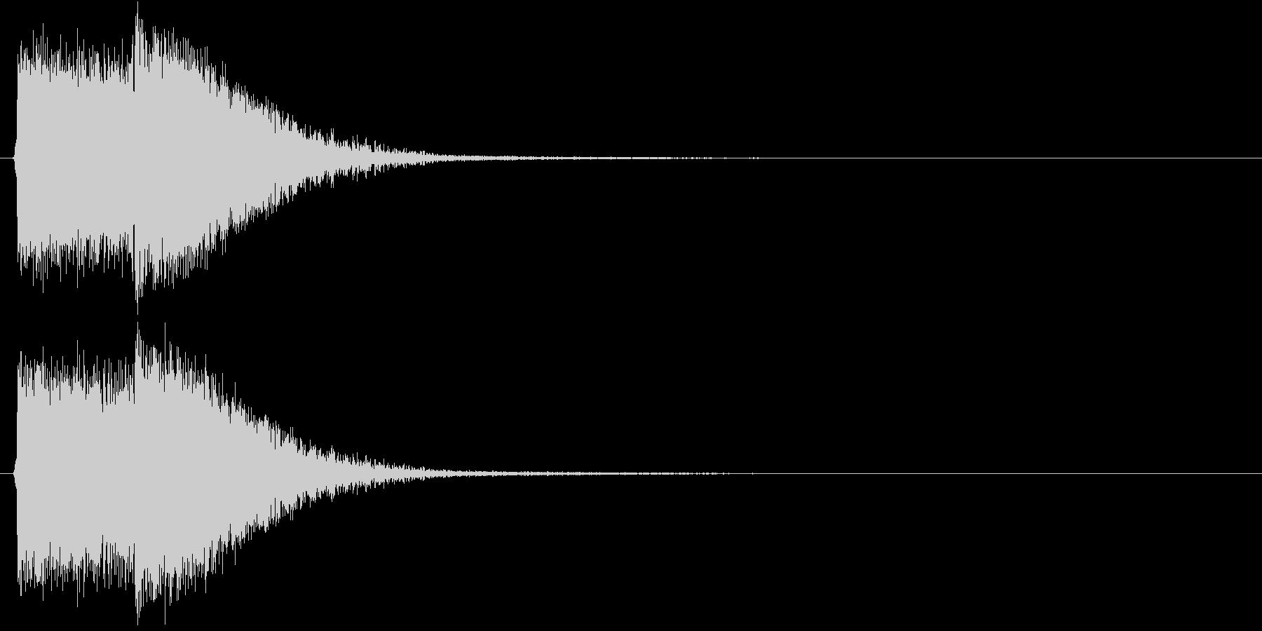 デデデン(出題前によく流れる効果音)の未再生の波形