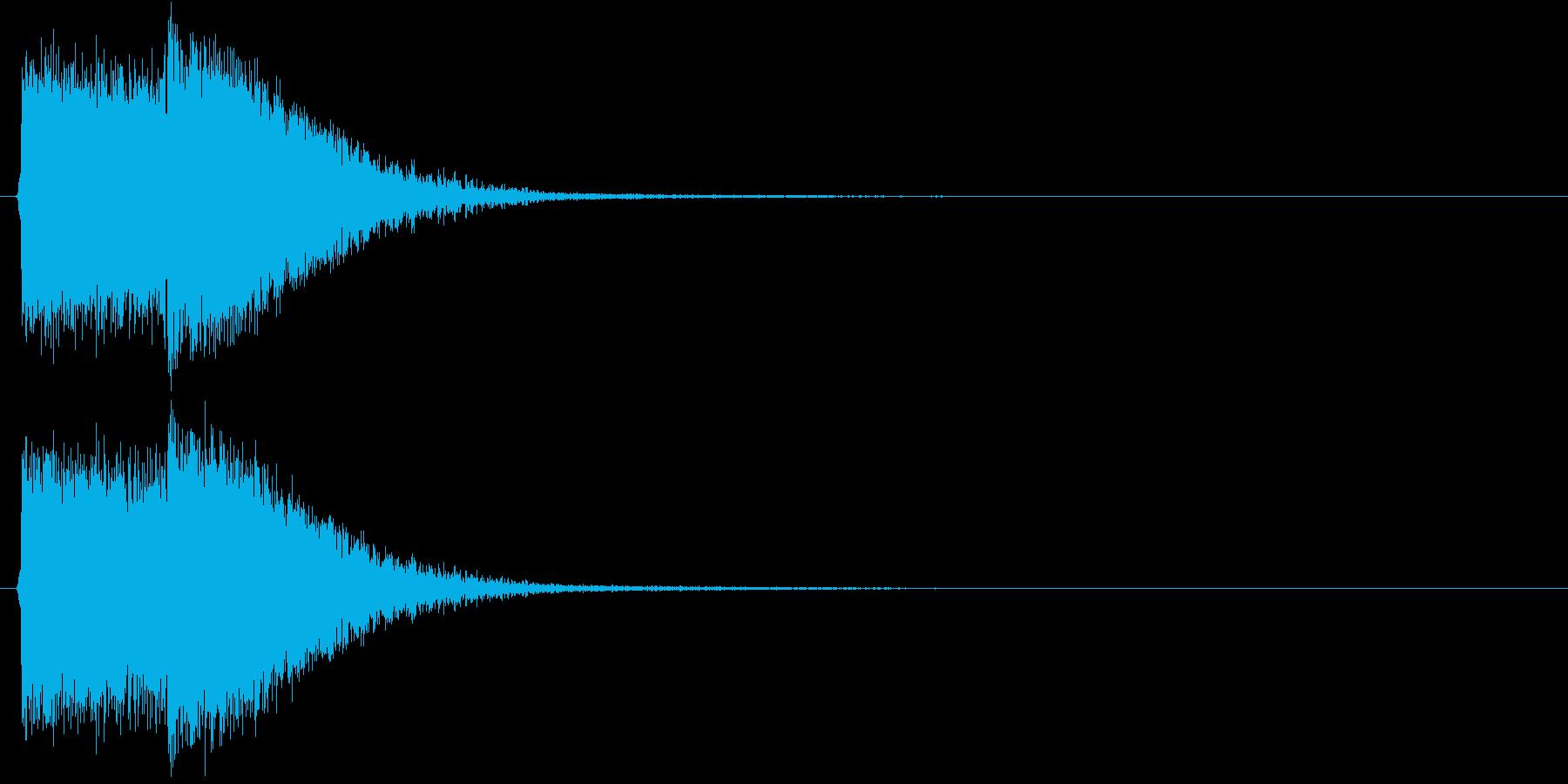 デデデン(出題前によく流れる効果音)の再生済みの波形