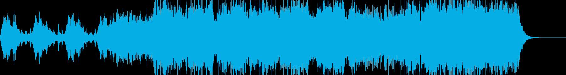 映画予告にピッタリの壮大なオーケストラの再生済みの波形