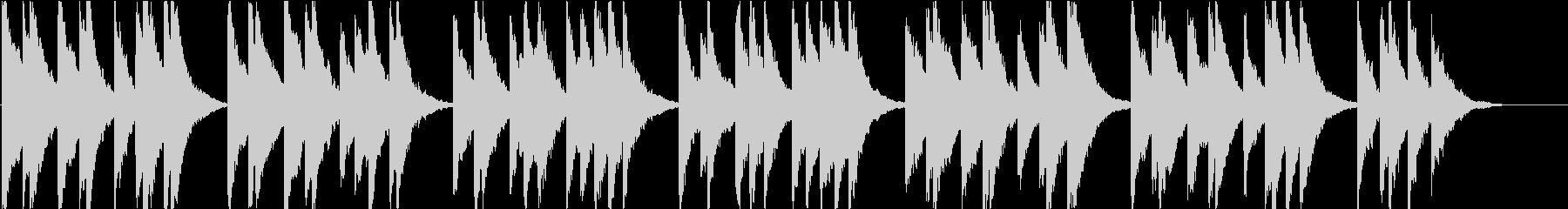 時報・チャイム風の名曲のメロディ・2の未再生の波形
