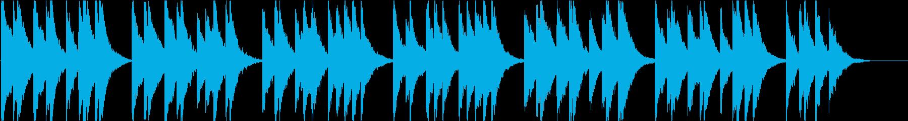 時報・チャイム風の名曲のメロディ・2の再生済みの波形