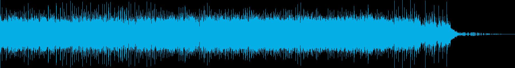 ヒップホップ系の静かなBGMですの再生済みの波形