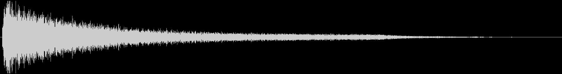 ドジャーーーン(銅鑼とバスドラの音)の未再生の波形