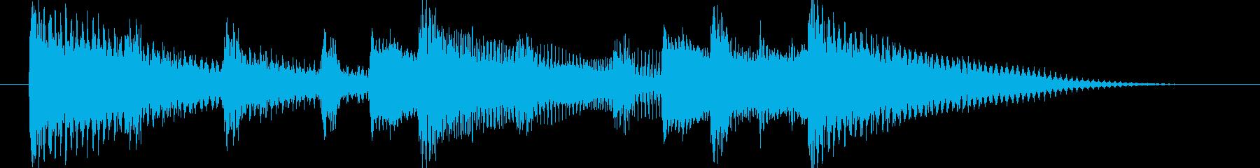 和む、でも少しクールなBGM-スティンガの再生済みの波形