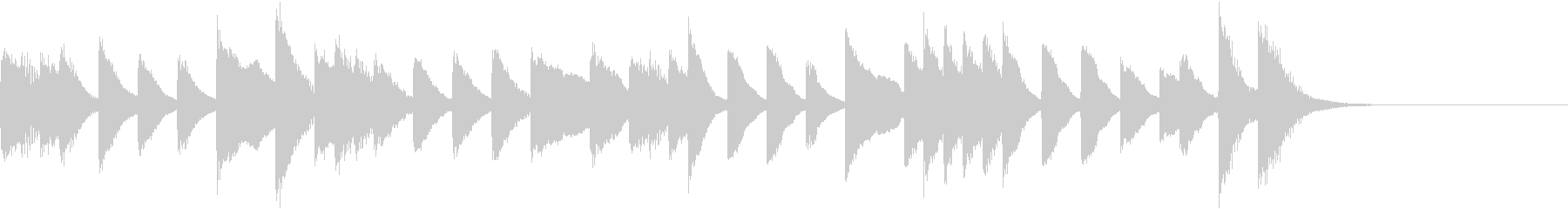 メロディ単体の情熱的ラテンピアノジングルの未再生の波形