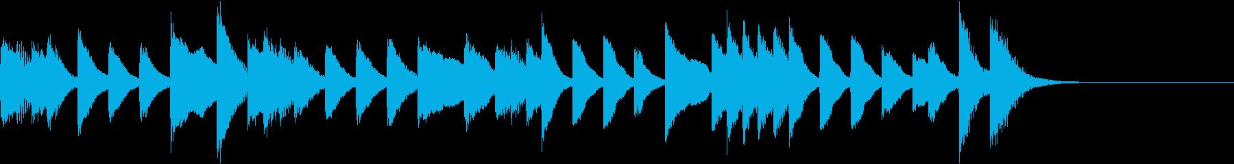 メロディ単体の情熱的ラテンピアノジングルの再生済みの波形