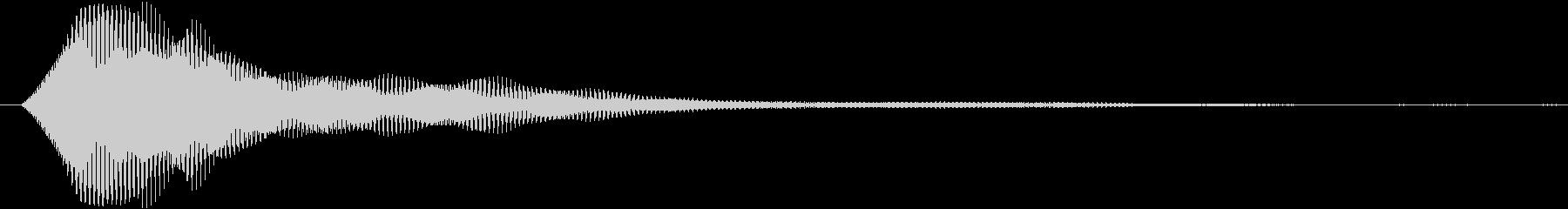 ホワーン(電子音)の未再生の波形