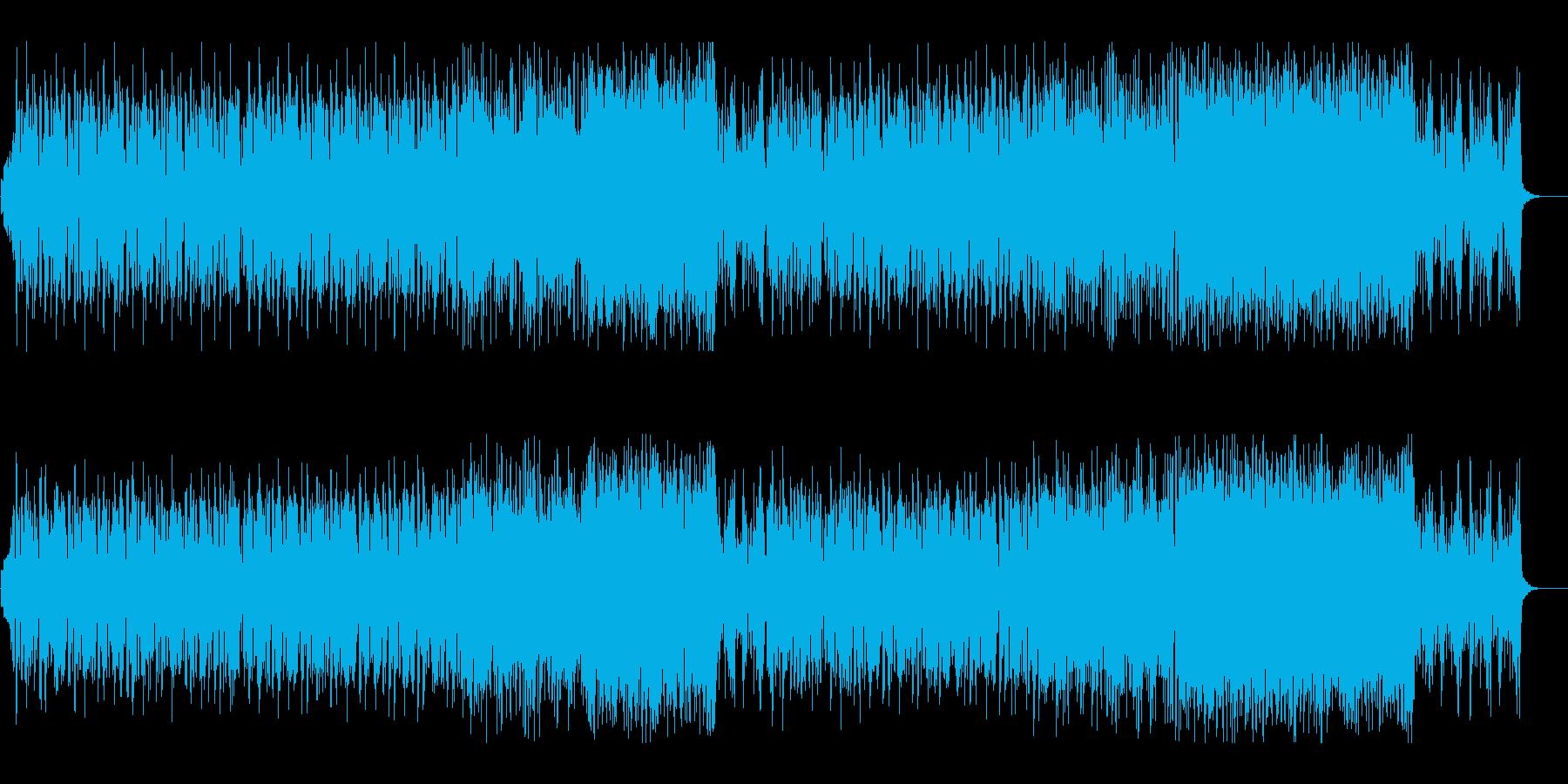 近未来風でスケール感あるテクノ系ダンス曲の再生済みの波形