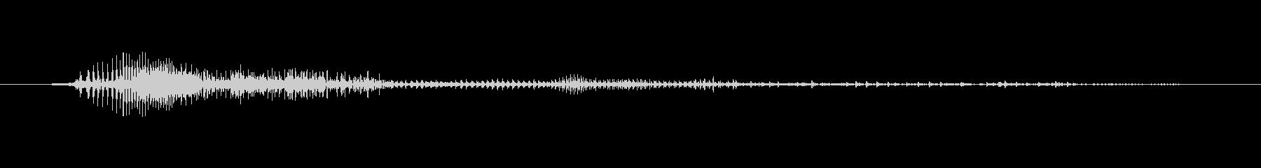 鳴き声 男性のうなる睡眠04の未再生の波形