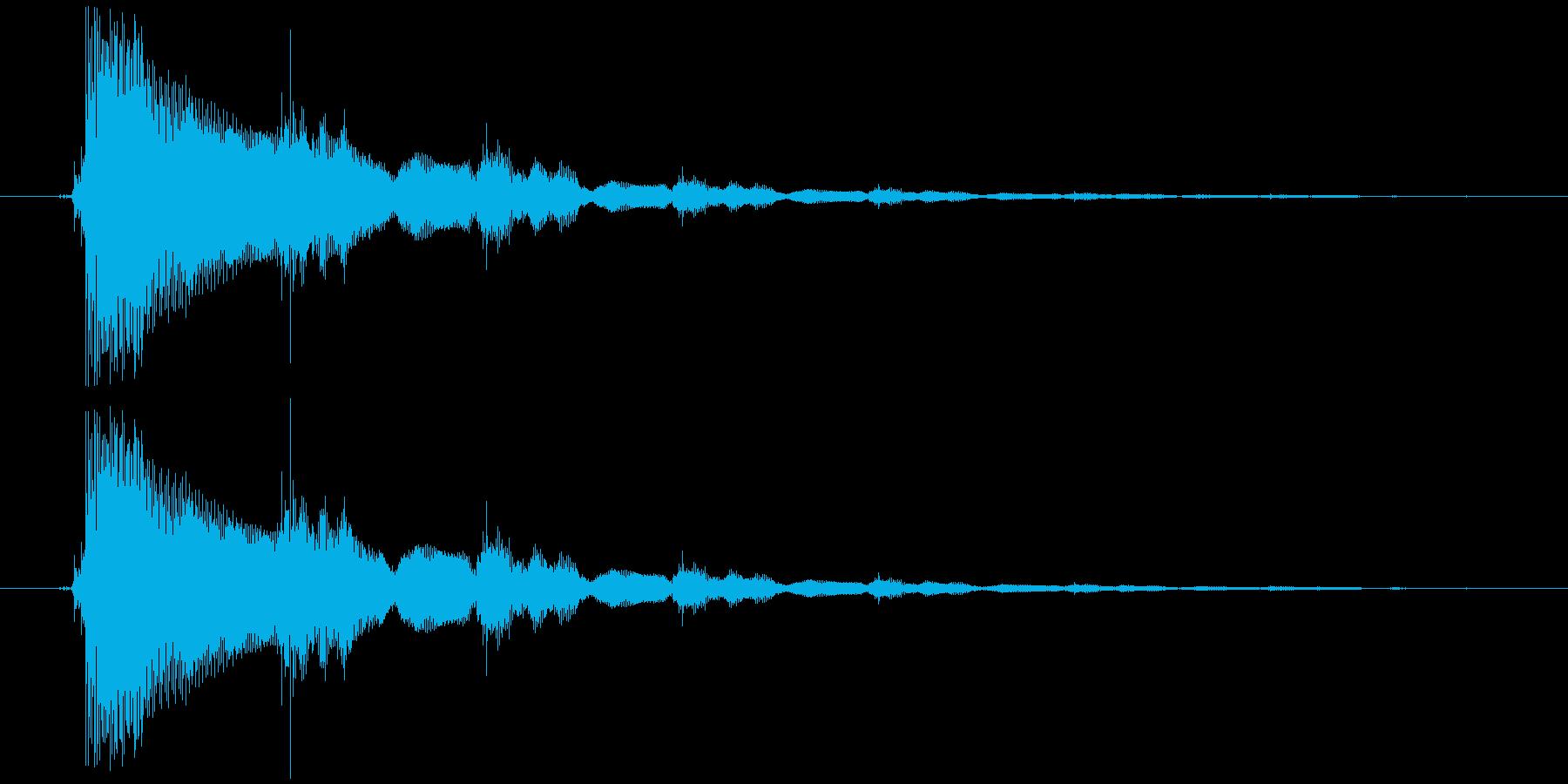 効果音(エレキギター)1の再生済みの波形