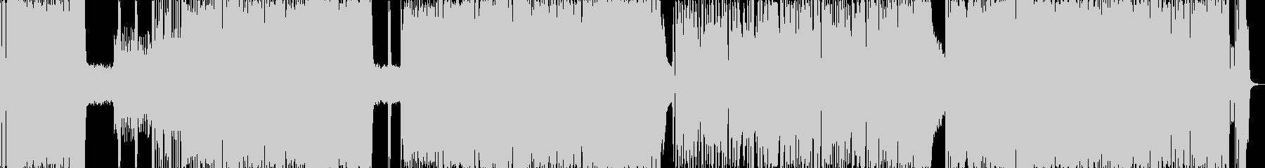 メロディー重視のギターサウンドの未再生の波形