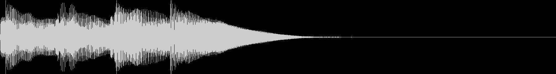 動画に使えそうなシンプルテロップ音の未再生の波形