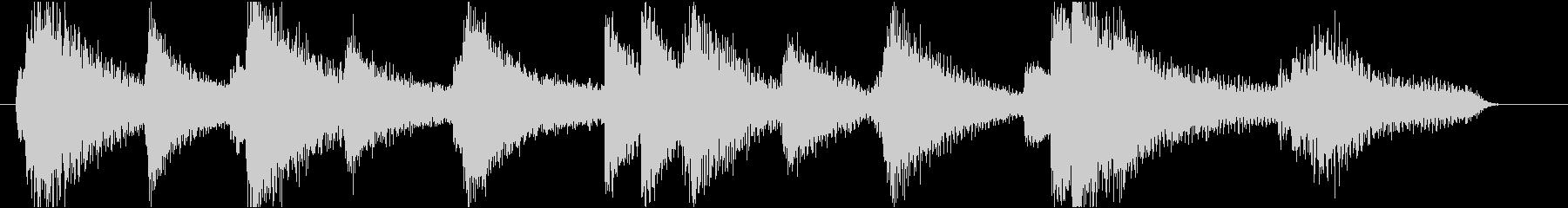 ムードあるピアノのジングル1(12秒)の未再生の波形