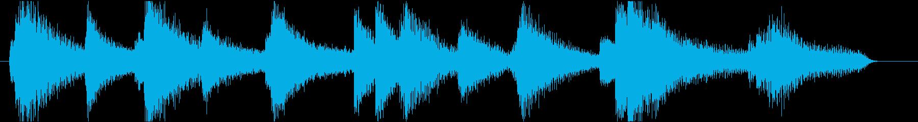 ムードあるピアノのジングル1(12秒)の再生済みの波形