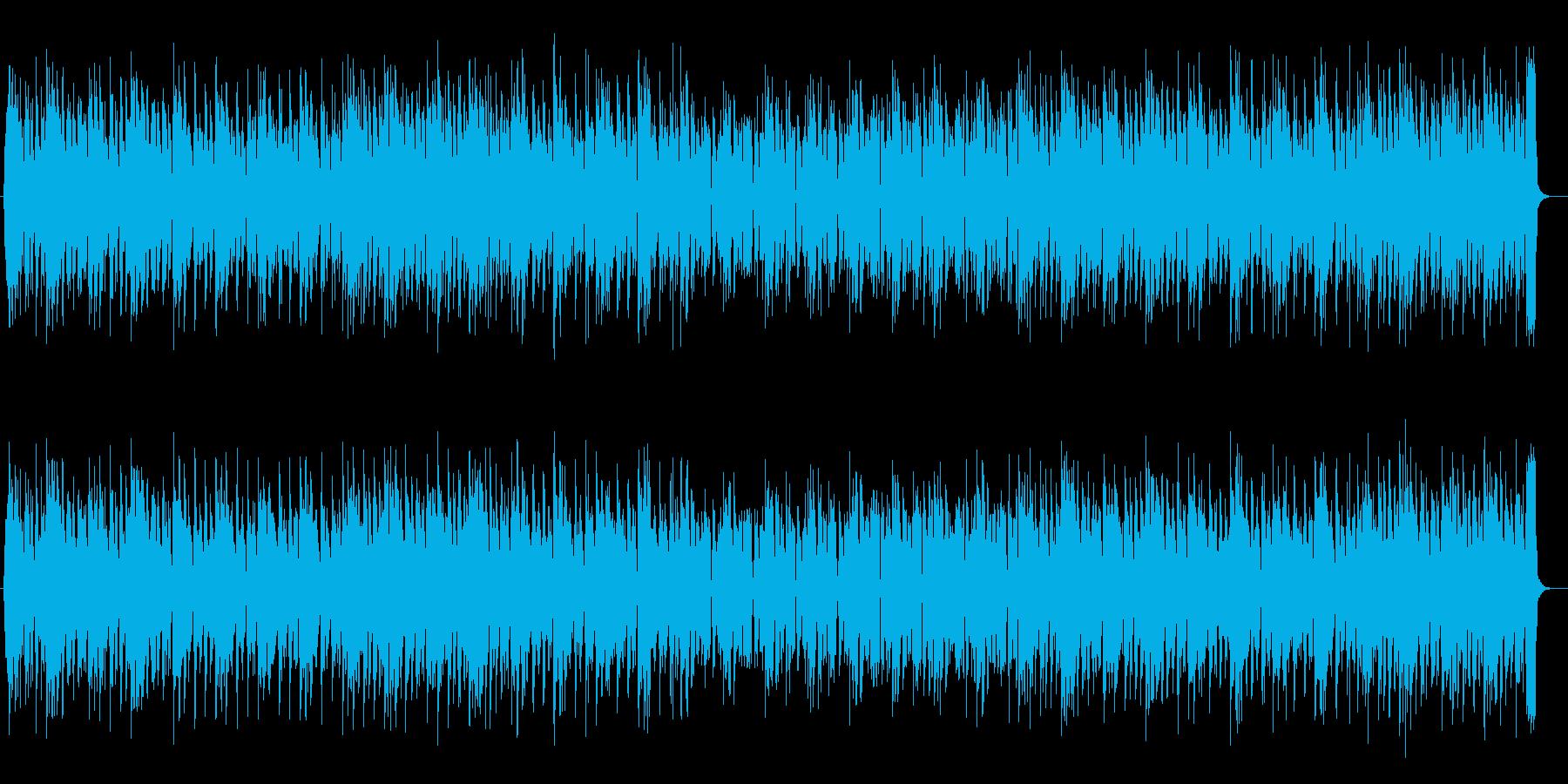明るく可愛らしい電子音のメロディの再生済みの波形