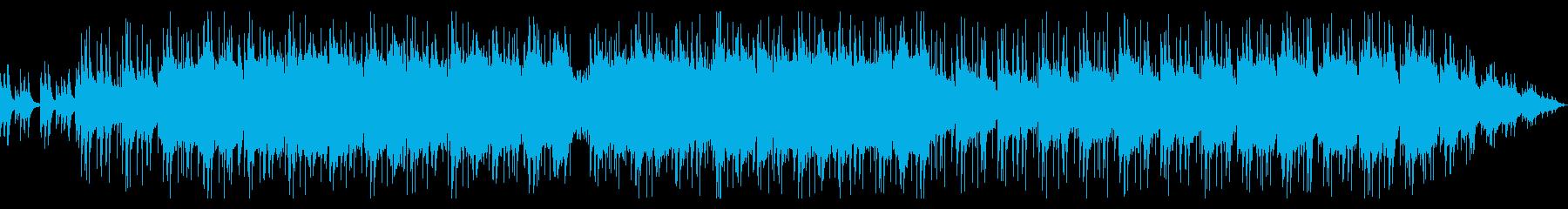 ポジティブな印象のミディアムバラードの再生済みの波形
