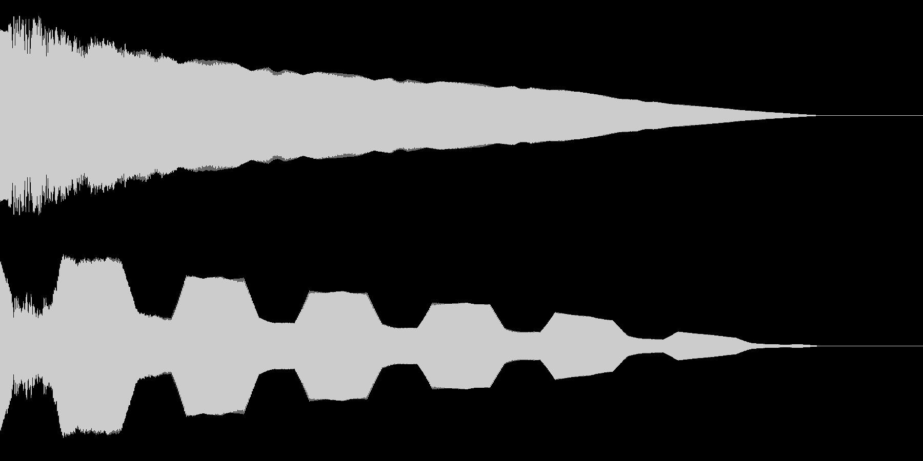 ピキュイーーーンの未再生の波形