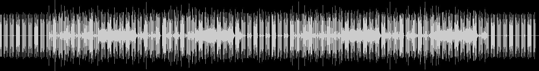 どうぶつのゲーム風な曲(ドラムなし)の未再生の波形