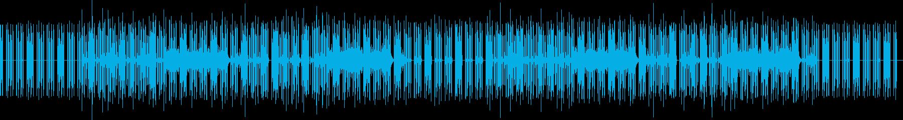 どうぶつのゲーム風な曲(ドラムなし)の再生済みの波形