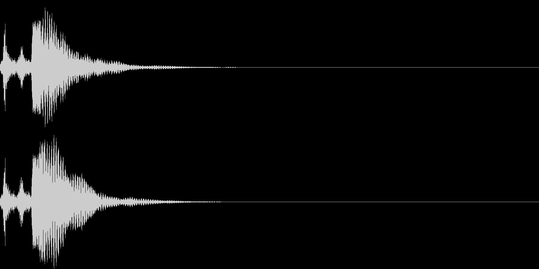 刀 キーン 剣 リアル インパクト Eの未再生の波形