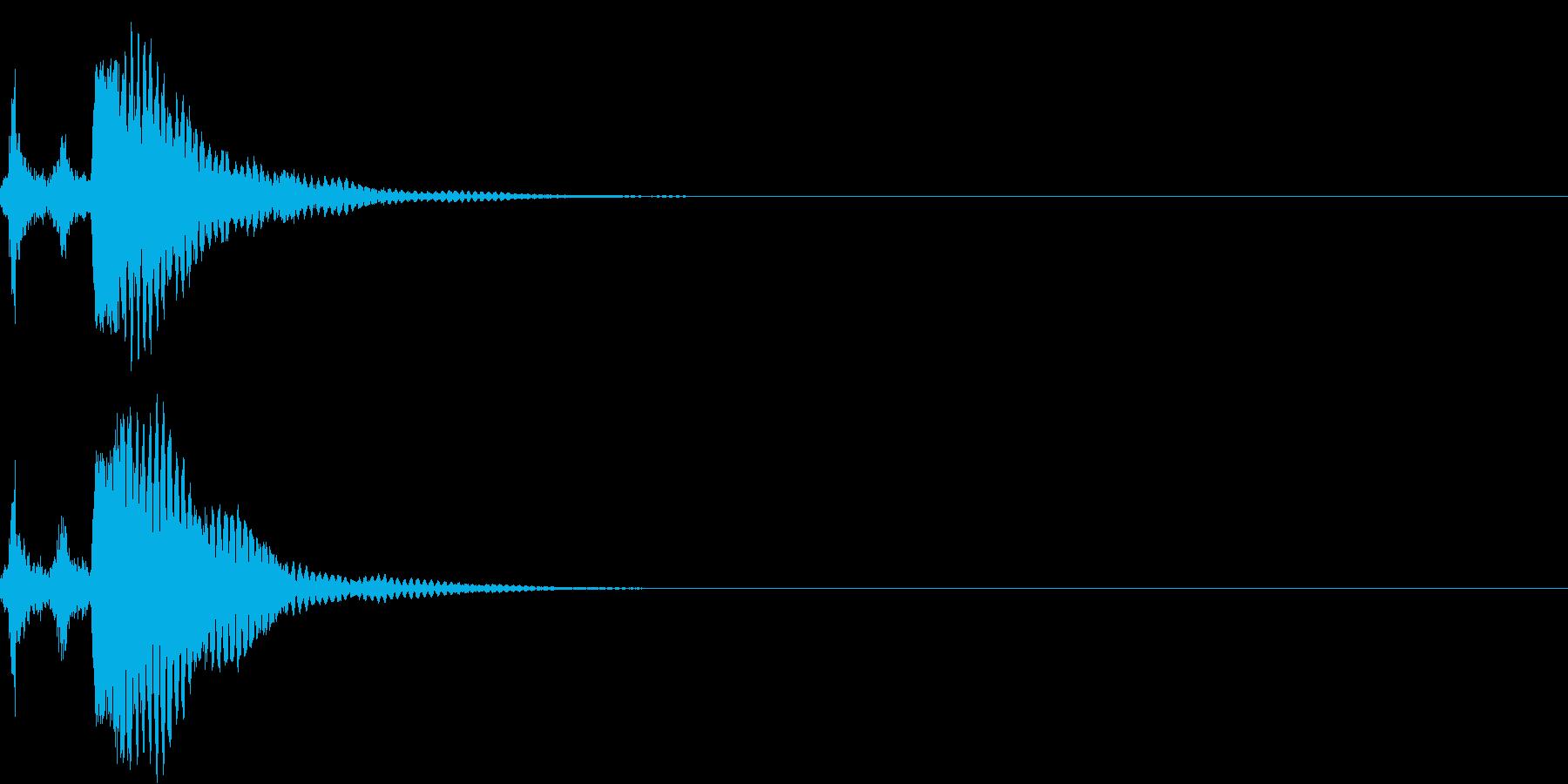 刀 キーン 剣 リアル インパクト Eの再生済みの波形