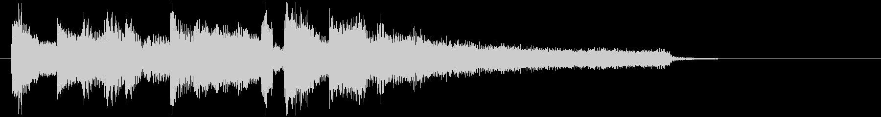 のびやかな笛のボサノバ・ジングル、切なさの未再生の波形