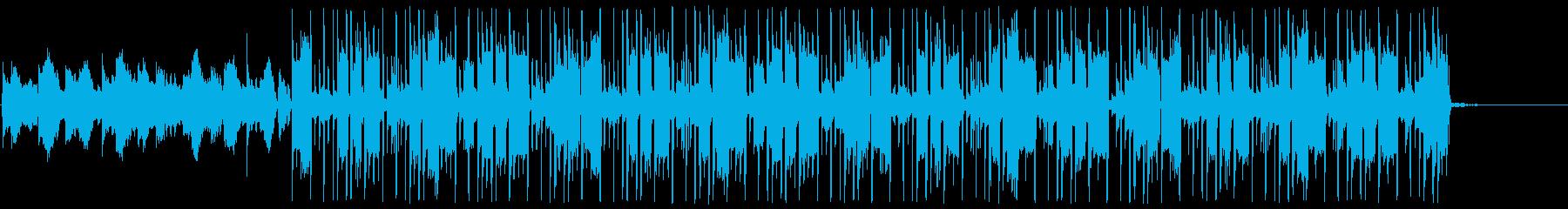 現代的なかっこいいヒップホップの再生済みの波形