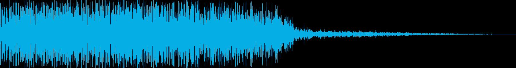 発射音です。(ドシューン)の再生済みの波形