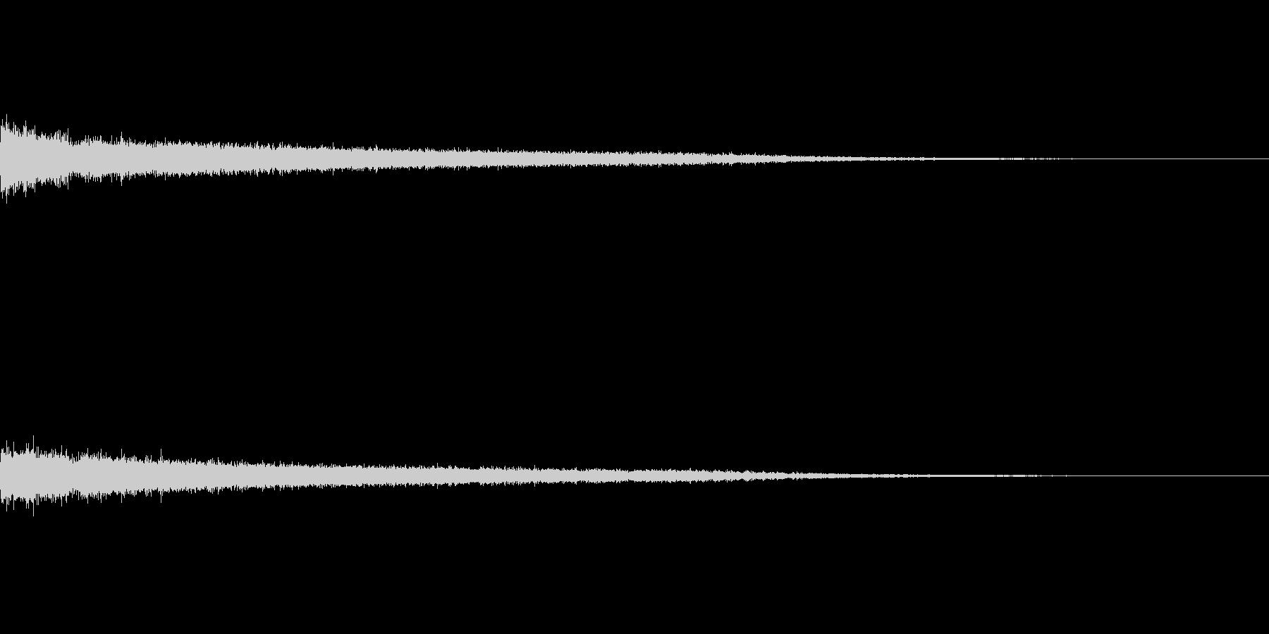 シュー(ワープ音)の未再生の波形