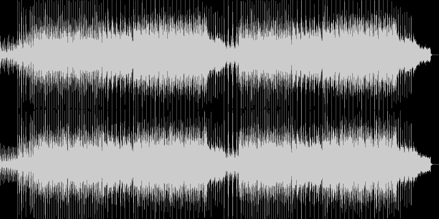アンブレラCMクリスマス映像用の明るい曲の未再生の波形