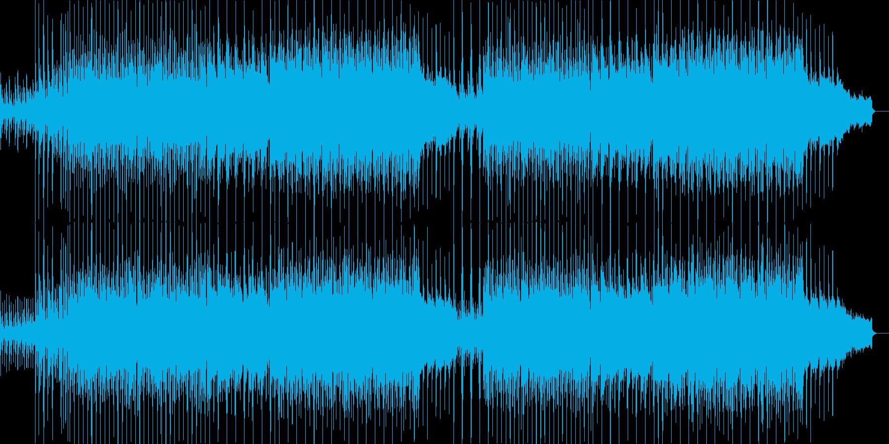 アンブレラCMクリスマス映像用の明るい曲の再生済みの波形