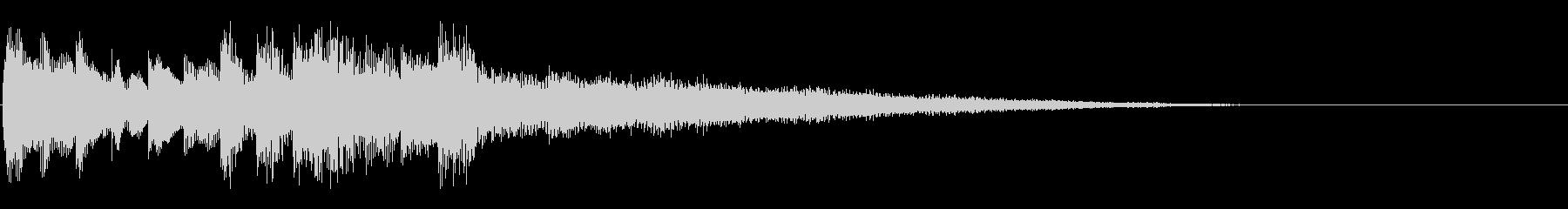 KANT電子音と弦楽器によるジングルの未再生の波形